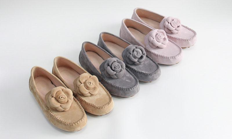 women footwear lady slip on moccasin